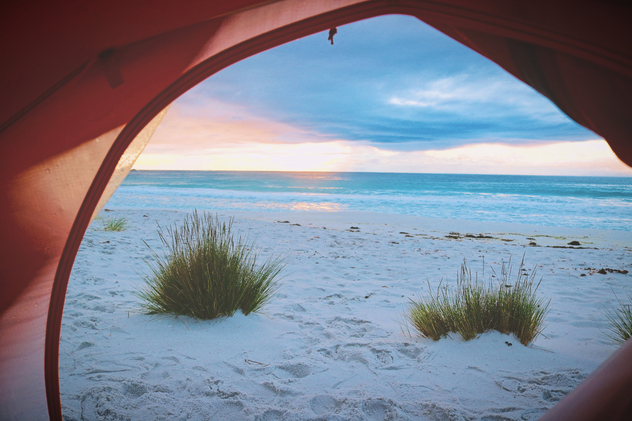 Camping on the Sand